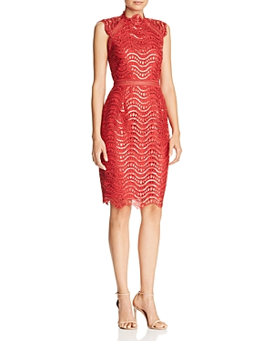 Saylor Scalloped Sequin-Lace Dress