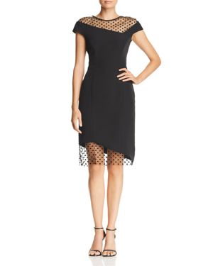 Milly Lillian Asymmetric Illusion Dress