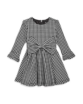 Bardot - Girls' Houndstooth Dress with Bow - Baby