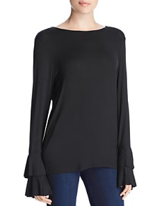 Alison Andrews - Tiered Ruffle Sleeve Top