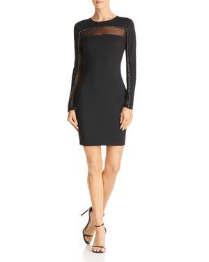 Galaxy Bead-Embellished Dress, Jet Black