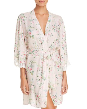 Flora Nikrooz - Rose Floral Crepe Cover-Up Robe