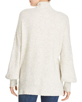 FRENCH CONNECTION - Orla Flossy Textured Mock-Neck Sweater