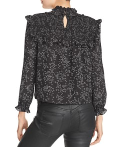 Rebecca Minkoff - Sharon Smocked Ruffled Star-Print Top