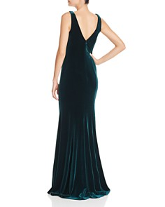 AQUA - Velvet Column Gown - 100% Exclusive