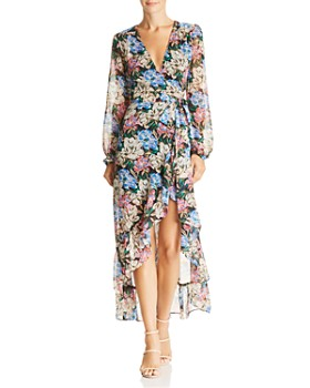 d26a7ad295 WAYF - Only You High/Low Floral Wrap Dress - 100% Exclusive ...