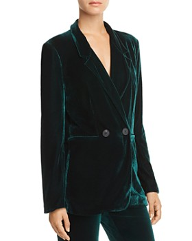AQUA - Happily Grey x AQUA Velvet Double-Breasted Blazer - 100% Exclusive