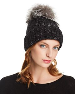 859f61be36664 Quirsa Faux Fur Pom-Pom Cable-Knit Beanie. Recommended For You (12). Kyi Kyi