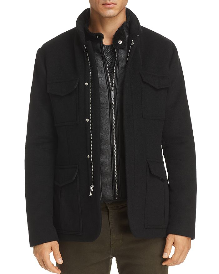 KARL LAGERFELD Paris - Faux-Shearling Bibbed Jacket