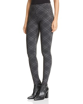 AQUA - Diamond Plaid Ponte Skinny Pants - 100% Exclusive