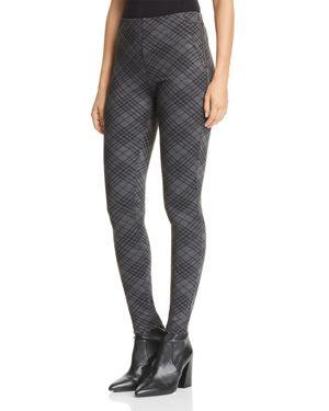Aqua Diamond Plaid Ponte Skinny Pants - 100% Exclusive