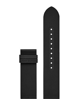 Tory Burch - The Gigi Black Rubber Smartwatch Strap, 20mm