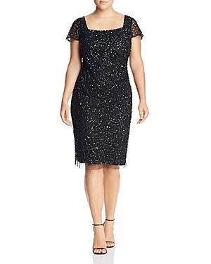 Adrianna Papell Plus Embellished Sheath Dress