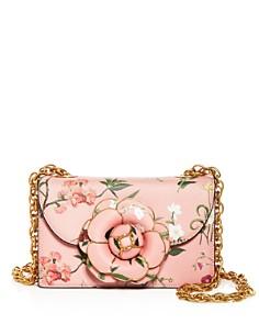 Oscar de la Renta - Tro Floral Leather Crossbody