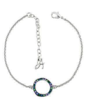 Adore Pave Crystal Circle Station Bracelet