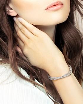 ADORE - Baguette & Pavé Cuff Bracelet