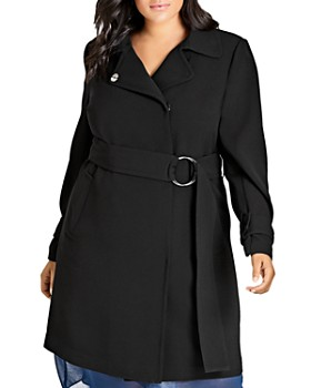 City Chic Plus - Belted Coat