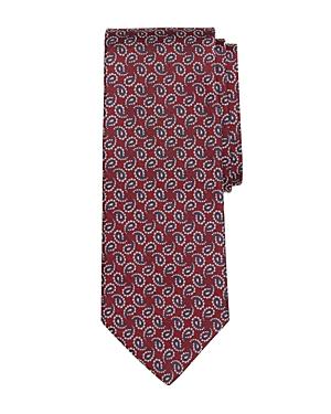 Brooks Brothers Paisley Pine Silk Classic Tie