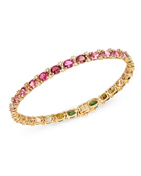 Bloomingdale's - Multicolor Tourmaline & Diamond Tennis Bracelet in 14K Yellow Gold - 100% Exclusive