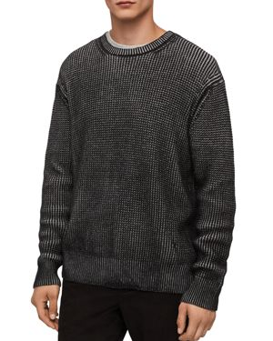 Allsaints Quarter Waffle Crewneck Sweater