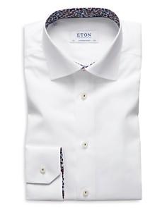 Eton - Floral-Accent Regular Fit Dress Shirt