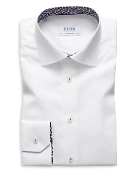Eton - Floral-Accent Regular Fit Dress Shirt