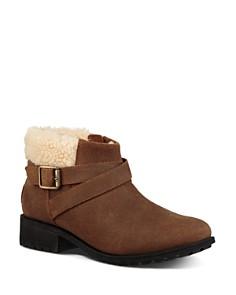 UGG® - Women's Benson Round Toe Leather Booties