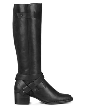 UGG® - Women's Bandara Round Toe Leather Mid-Heel Boots