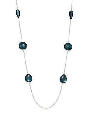 Ippolita Sterling Silver Wonderland Clear Quartz & Mother-of-Pearl Doublet Station Necklace