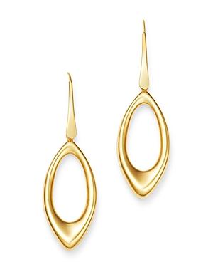 14K Yellow Gold Open Teardrop Earrings