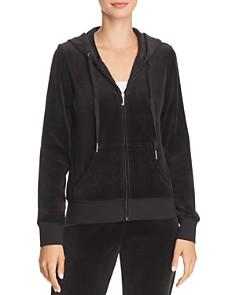 Juicy Couture Black Label - Gothic-Logo Zip Hoodie