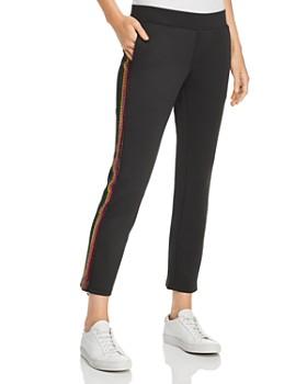 PAM & GELA - Rainbow Embellished Cropped Track Pants