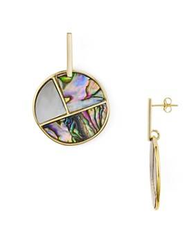 Argento Vivo - Mosaic Circle Drop Earrings in 18K Gold-Plated Sterling Silver or Sterling Silver
