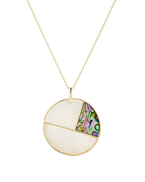 Argento Vivo Mother-of-Pearl Mosaic Pendant Necklace in 18K Gold-Plated Sterling Silver, 23