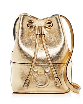 Salvatore Ferragamo - Gancio City Small Leather Bucket Bag
