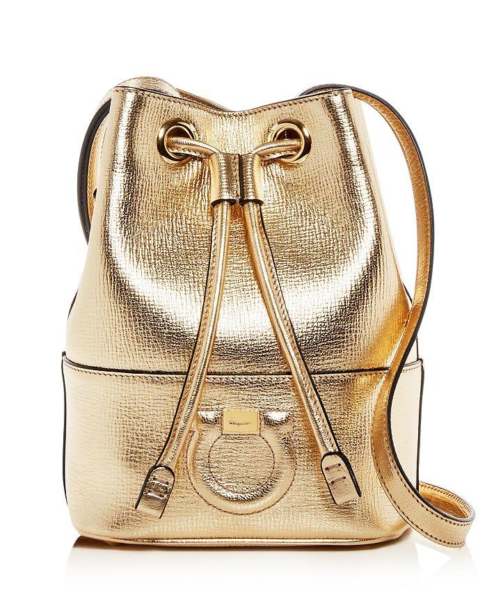 d233bbe8b1 Salvatore Ferragamo Gancio City Small Leather Bucket Bag ...