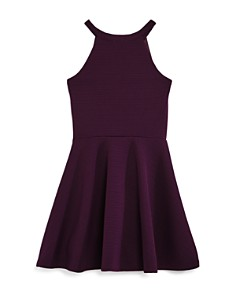 Sally Miller - Girls' Textured Knit Mesh-Cutout Dress, Big Kid - 100% Exclusive