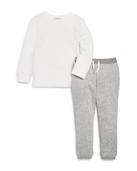 Splendid - Boys' Waffle-Knit Shirt & Speckled Jogger Pants Set - Little Kid