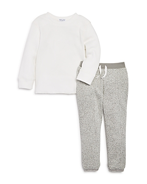 Splendid Boys' Waffle-Knit Shirt & Speckled Jogger Pants Set - Little Kid