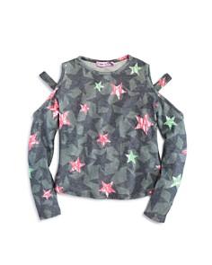Play Six - Girls' Camo-Print Star Cutout Sweater Top - Little Kid