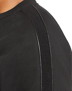 7 For All Mankind - Faux Leather-Trimmed Sweatshirt