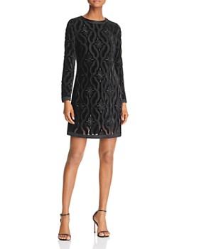 Adelyn Rae - Velvet Lace Dress