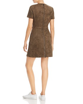 FRENCH CONNECTION - Faux Suede A-Line Dress