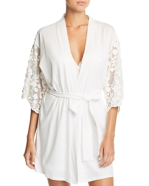 Flora Nikrooz ALEXISS EMBROIDERED-SLEEVE ROBE