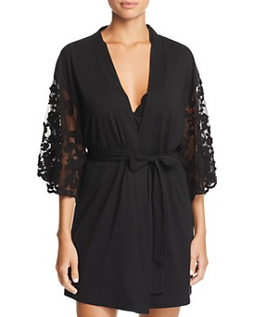 Flora Nikrooz - Alexiss Embroidered-Sleeve Robe