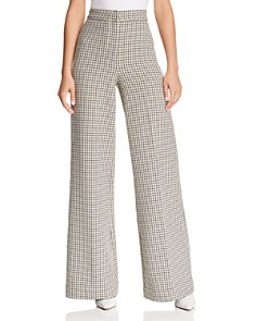 Joie - Jeslyn Plaid Wide-Leg Pants