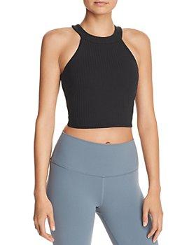 Alo Yoga - Unite Rib-Knit Cropped Bra Tank