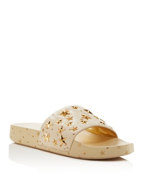 Tory Burch - Star Studded Leather Platform Slides