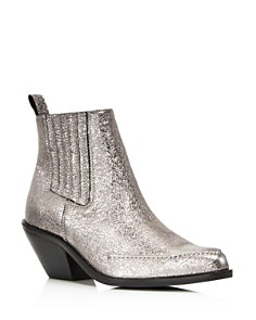 Kenneth Cole - Women's Rory Crackled Metallic Leather Booties