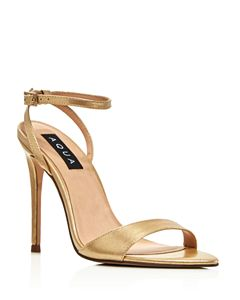 0776208dd4d AQUA Women s Seven Leopard Print Calf Hair High-Heel Sandals - 100 ...